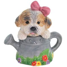 Mwah! Puppy in Watering Can Salt and Pepper Shakers $7.91