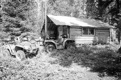Nipigon, Ontario Canada Date shot: August 18, 2013     old hunting camp