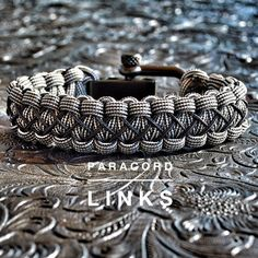 The Diamond Links Bracelet with a Black or Chrome Stainless