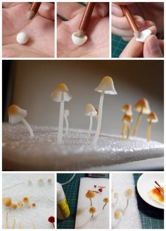 Translucent resin clay do Meng Meng really very appropriate tender mushrooms (Japanese translated)
