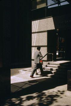 Magnum Photos Harry Gruyaert 1996 JAPAN. Tokyo. Office building Shinjuku area. 1996