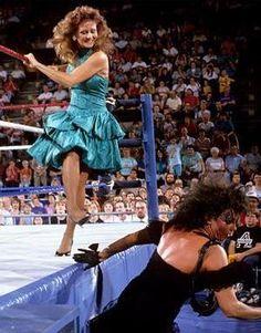 Miss Elizabeth and Sensational Sherri! #wwe #wwf #wrestling #prowrestling