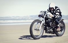 Ride the Sand | Blog | Iron & Resin | cafe racer, new old modern vintage, beach, open-face, clip-ons