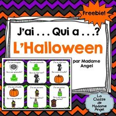 Freebie: Halloween Themed Game in French - J'ai . . . Qui