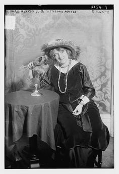 Mrs. Henry Hill with her dog pet Little Miss Muffet by GalleryLF