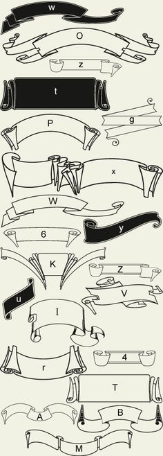 Letterhead Fonts / LHF Americana Ribbons / Decorative Ribbons