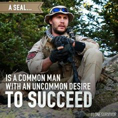 Special Forces guys are not superhuman. They bleed, they get tired, the feel fear. But they are willing to do what the rest of us aren't.   (Lone Survivor)