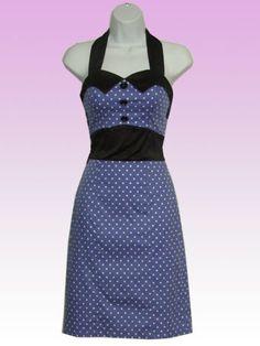 Blue and Black Vintage Dress