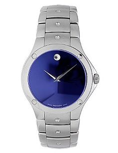 movado men s 0606384 serio stainless steel and diamond black round movado sport watches movado men s s e blue dial stainless steel bracelet watch