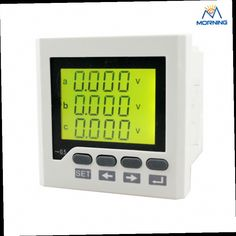 46.13$  Buy here - http://alipaw.worldwells.pw/go.php?t=32751614224 - 3D6Y 72*72mm  AC/DC 80V~270V 3 phase multifunction meter digital only 46.13$