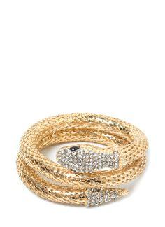 Charming Snake Coil Bracelet
