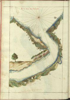 """Cod. 8033 - 16746 - 36 --  João de Castro (1500-1548)  """"Roteiro da costa do norte de Goa, ate Dio, no qual se descrevem todos os portos, alturas, sondas, demarcações, diferenças de agulha que ha em toda esta costa"""". [16--]. BNP Cod. 8033"""