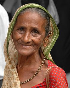From India, maybe? But the smile is universal. Absolutely beautiful!