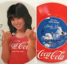 "三原じゅん子、コカコーラ イメージソング「いとしのサマーボーイ」。☆Coke image song ""Itoshi no Summer Boy"" by Junko Mihara, 1982, Japan. She was an idol singer, then a race driver, and now has become a congresswoman."