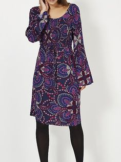 Paisley Print Shirred Dress, read reviews and buy online at George at ASDA. Shop from our latest range in Women. 70's style is back, and we love the quintess...