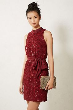I think this might be awesome, but the model has no shape...  Sequin Cutout Dress #anthropologie