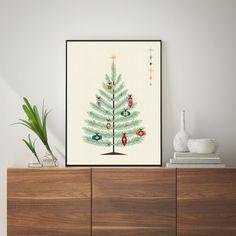 Mid Century Modern Christmas Print Mid Century Christmas   Etsy Christmas Wall Art, Modern Christmas, Christmas Print, Christmas Christmas, Xmas, Modern Prints, Large Prints, Mid-century Modern, Wall Art Prints