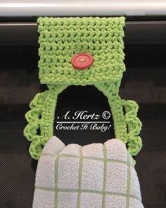 Towel Holder: free pattern #crochet