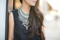 Silver Surfer :: Statement necklaces & Embellished pumps (via Bloglovin.com )