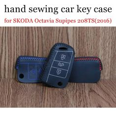 factory price sale Car key cover car key case Hand sewing Genuine leather fit for S-KODA O-ctavia S-upipes 208TS(2016) #Affiliate