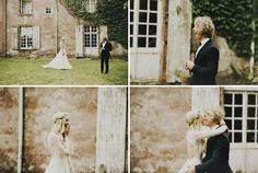 first look // Château le Mont Epinguet French wedding