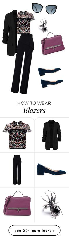 """""""Untitled #123"""" by vmaras82 on Polyvore featuring Needle & Thread, Roland Mouret, Rupert Sanderson and Botkier"""