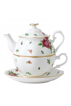 New Country Roses White Tea For One from Royal Albert.