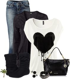 """Jeans and Tee"" by cindycook10 on Polyvore"