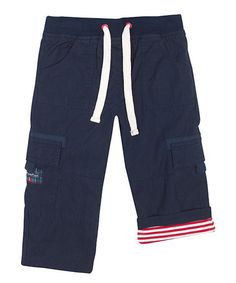 Loving this Navy Utility Pants - Infant & Toddler on #zulily! #zulilyfinds