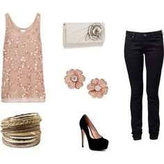 girls night out, created by fashionista-233 on Polyvore