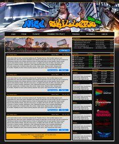 Webdesign pro herní clan Nice Skillers (nice-skillers.eu)