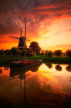 **Windmill Pelmolen 'Ter Horst' in Rijssen (Overijssel), The Netherlands