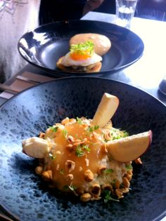 Hammer and Tong, coconut bircher muesli with apple and hazelnuts.
