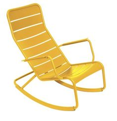 Fermob - Luxembourg - chair - armchair - rocking - outdoor - furniture - yellow