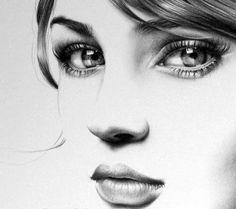 art, drawing, pencil, portrait