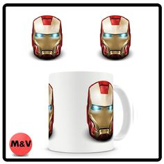 Iron man Face mug, Marvel, Avengers, Comics, Mask