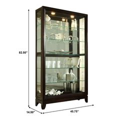 Darby Home Co Nancy Lighted Curio Cabinet & Reviews | Wayfair