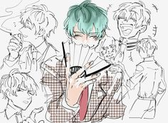 Character Sheet, Cute Anime Character, Character Concept, Character Design, Art Reference Poses, Drawing Reference, Cute Anime Boy, Anime Guys, Tragic Comedy