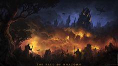 ArtStation - Rhazdon's Final Battle, Andreas Rocha Fantasy Town, New Fantasy, Dark Fantasy, Fantasy Setting, Dark Gothic, Fantasy Illustration, Fantasy Landscape, Cool Artwork, Amazing Artwork