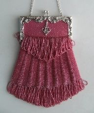 Vintage Beaded Pink Purse