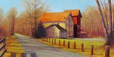 """Almost Spring"" 12x24 oil on canvas - Landscape Paintings by Joe Kazimierczyk"
