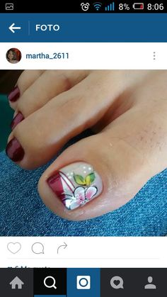 Summer Nail Designs - My Cool Nail Designs Pedicure Nail Art, Pedicure Designs, Toe Nail Designs, Pretty Toe Nails, Cute Nails, Pretty Toes, Gel Toes, Gel Nails, Toenails