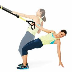 I love the TRX band! Here's a total-body TRX Workout: Do the Limbo exercise for a tight back, strong arms and firm abs. Suspension Workout, Trx Suspension, Suspension Training, Suspension Straps, Fitness Tips, Fitness Motivation, Health Fitness, Pilates, Crossfit