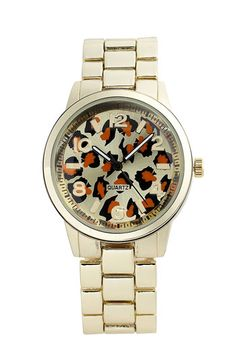 Titanium 'Leopard Face' Watch available at #Nordstrom  Only $18!