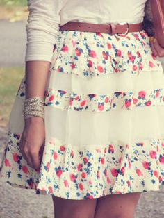 ANDYSTYLE - floral skirt