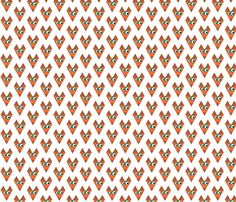 Fox  fabric by mofje on Spoonflower - custom fabric