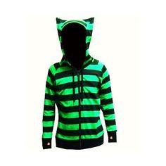 Striped animal hoodie