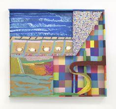 From Galleri Nicolai Wallner, Chris Johanson, Leisure (Los Angeles Landscape Painting no.4) (2014), Acrylic on wood, 127 × 152 × 10 cm