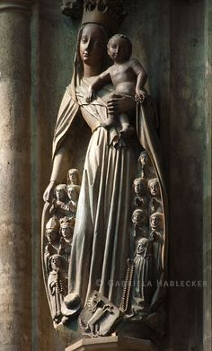 Virgin of Mercy with Jesus child, Stephen's Cathedral in Vienna (Photo: Gabriela Hablecker)   St. Stephen's Cathedral was a Romanesque basilica before Rudolf IV, the first Habsburg ruler born in Austria, commissioned the extensive expansion of the basilica in Gothic style.