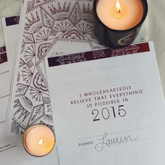 Unravelling The Year Ahead: 2015. A free downloadable journalling workbook.